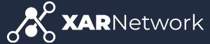 Xar Network official logo collapsed white