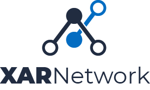 Xar Network official logo stacked full colour