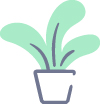 Small decoritive potplant graphic