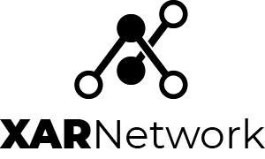 Xar Network official logo stacked black